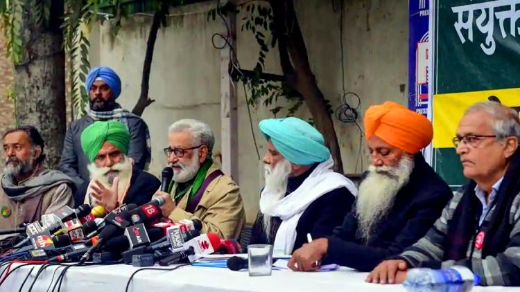 Farmer leaders held press conference in Delhi on Saturday.